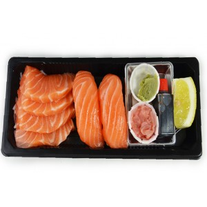 BS7 4Sashimi saumon et 2Sushi saumon