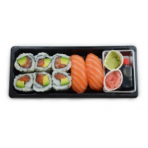 BS6 6california saumon et 2sushi saumon